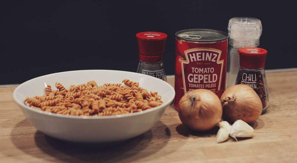 Ingrediënten voor een koolhydraatarme pasta