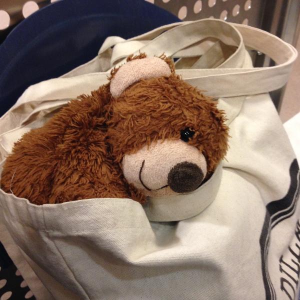 Waiting in the emergency room with my teddy bear Kika