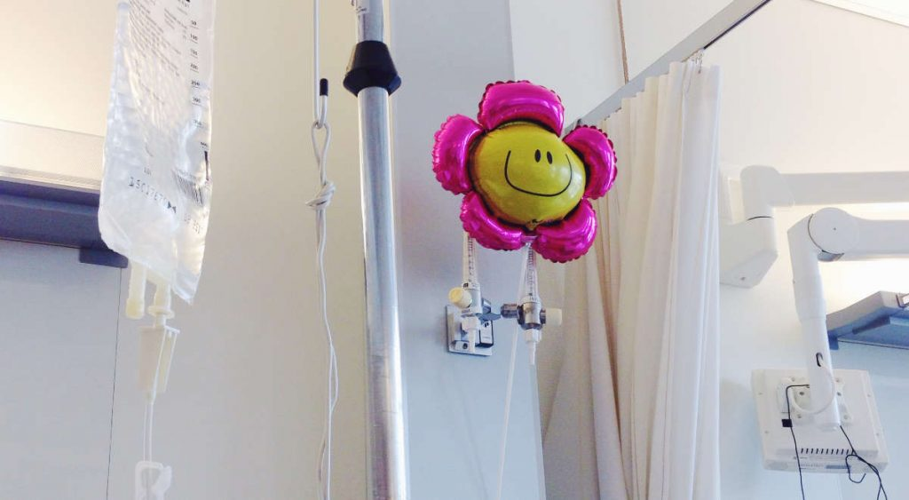 The balloon in the hospital that I received from a friend