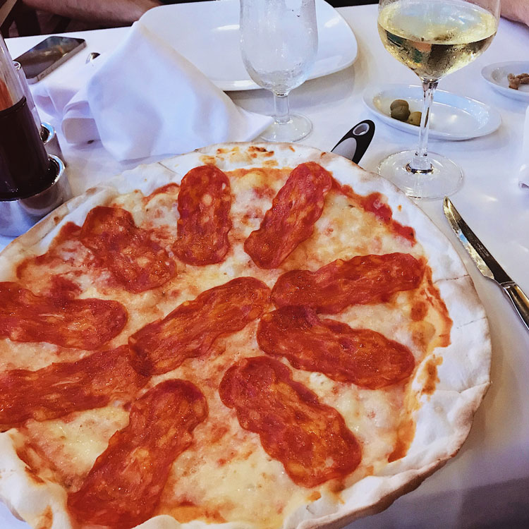 Pizza at La Tagliatella in Girona