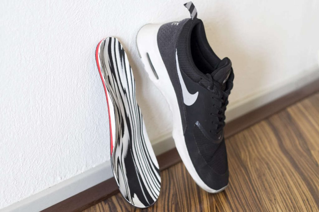 Orthotics in combination with Nike shoes