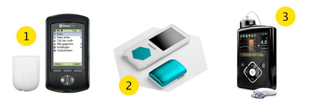 Kiezen tussen de OmniPod, Kaleido of de MiniMed 640G insulinepomp